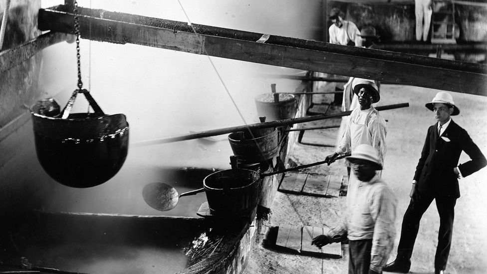 After being processed in the West Indies, the molasses made its way to cities like Boston to be used in industry (Credit: Getty Images)