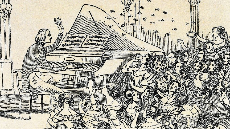 A caricaturist records the audience's rapturous reception to Liszt in concert (Credit: De Agostini/Getty Images)