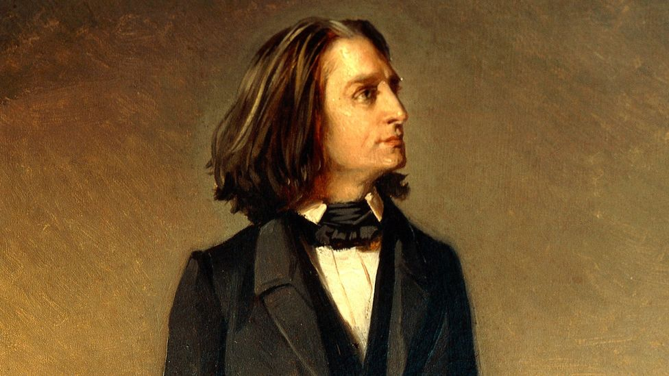 Liszt was handsome in his younger years and cut a dashing figure on stage with his trademark flowing hair (Credit: Richard Lanchert/Getty Images)