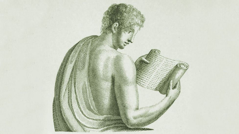 Ancient Rome was awash with the written word – but with scrolls made of sheets of Egyptian papyrus rather than books (Credit: John Clark, The Care of Books)