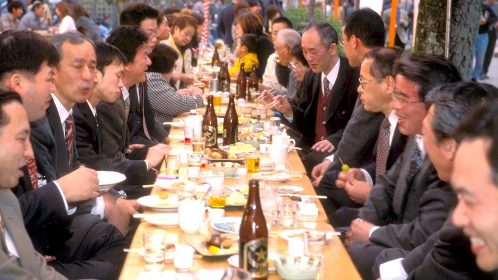 Often, corporate bonding occurs during late-night drinking sessions with colleagues (Credit: Alamy)
