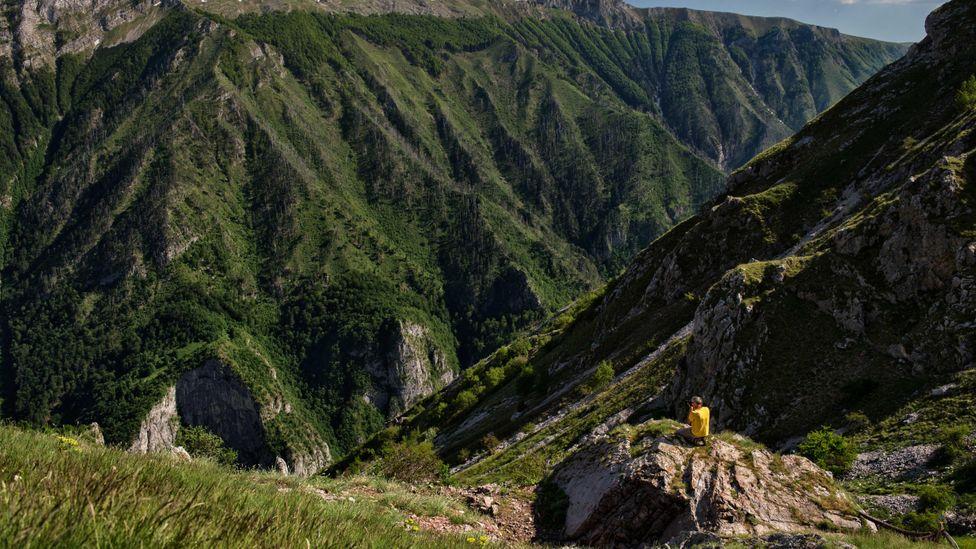 Admiring the vastness of the mountains near Lukomir (Credit: Roberto Nistri / Alamy)