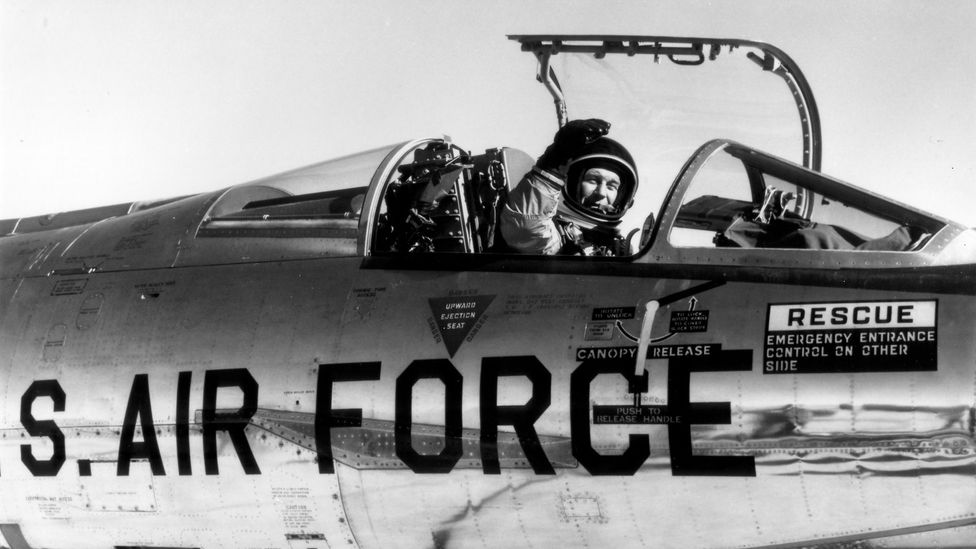 A terrifying incident in an out-of-control F-104 nearly killed test pilot Chuck Yeager (Credit: Wikimedia)
