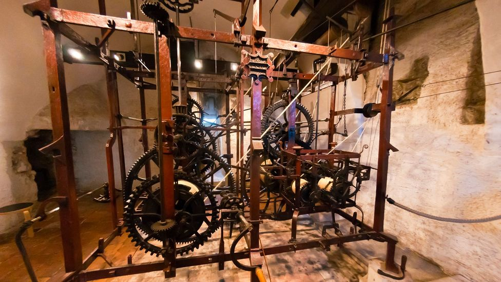 The elaborate clockwork is about the size of a walk-in closet (Credit: Blaine Harrington III/Getty)