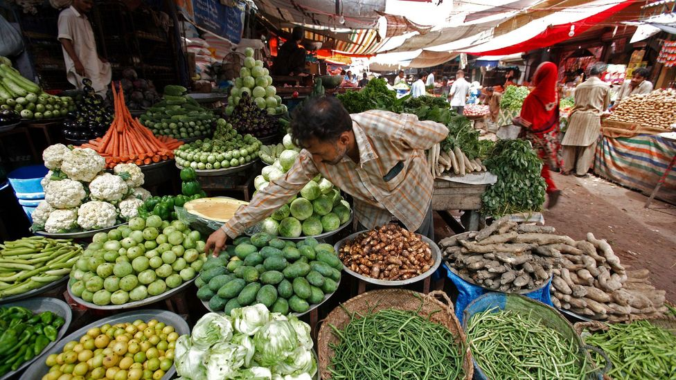 Customers get free coriander and green chilli in Pakistan and Northern India (Credit: Bloomberg/Getty)