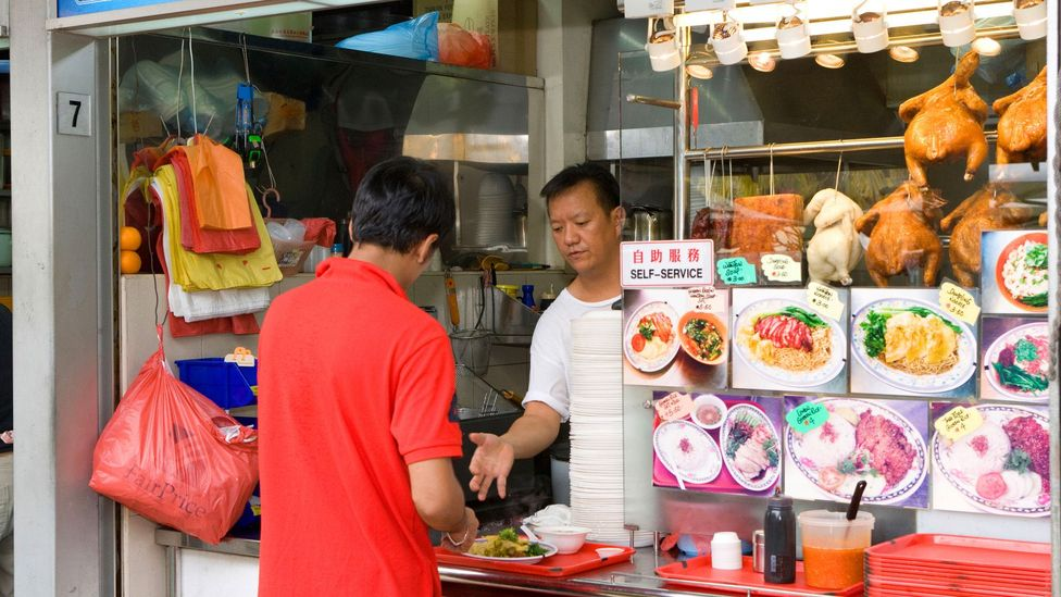 Food courts and restaurants in Singapore offer free access to chilli sauce (Credit: Antony Souter/Alamy)