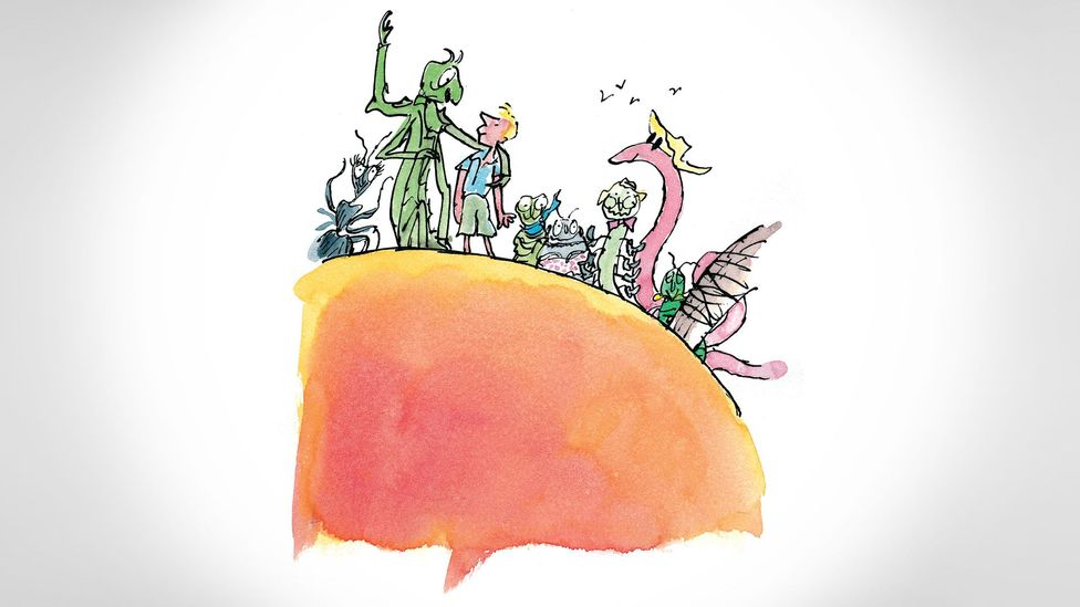 James and the Giant Peach was the first of Dahl's works for children – and it left plenty of adult readers disturbed (Credit: Illustrations © Quentin Blake)