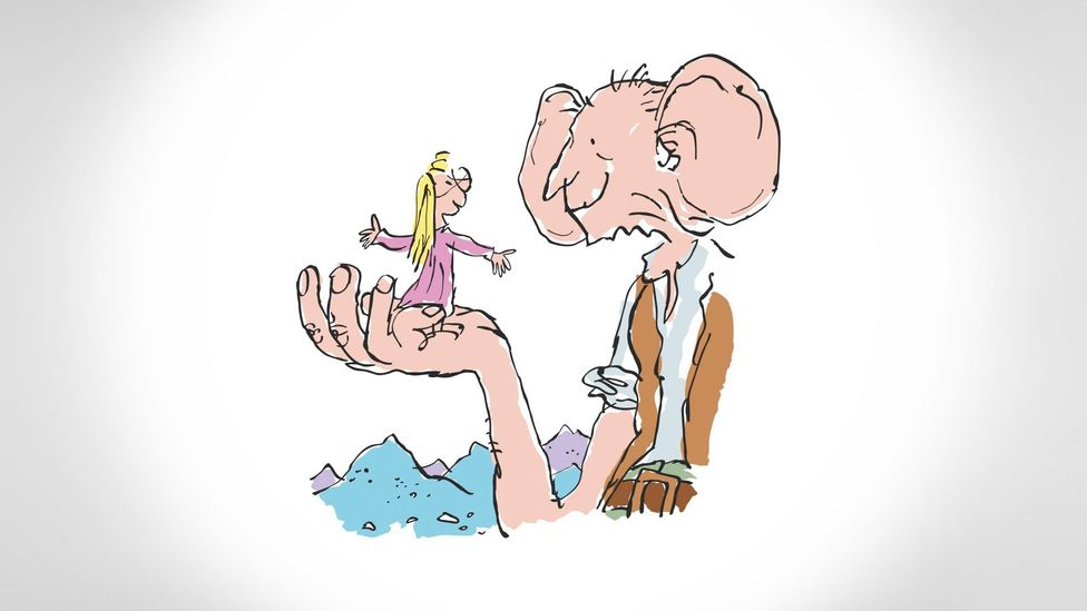 Dahl invented his nonsense language, Gobblefunk for The BFG (Credit: Illustrations ©Quentin Blake)