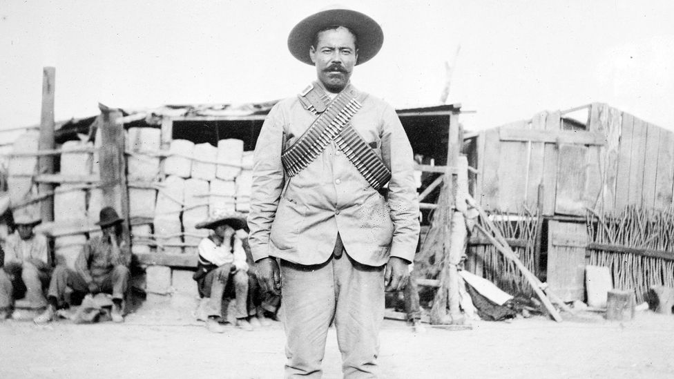 The corpse of Mexican Revolutionary general Pancho Villa was exhumed by grave robbers three years after he was shot (Credit: Alamy)