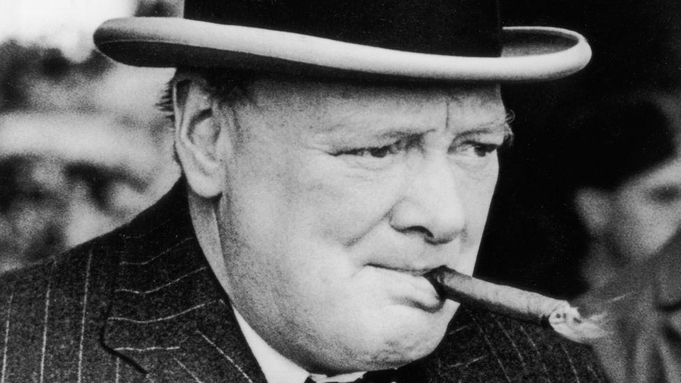 Former British Prime Minister Winston Churchill's half-finished stogie sold at an auction in 2010 for £4,500 ($6000) (Credit: Getty Images)
