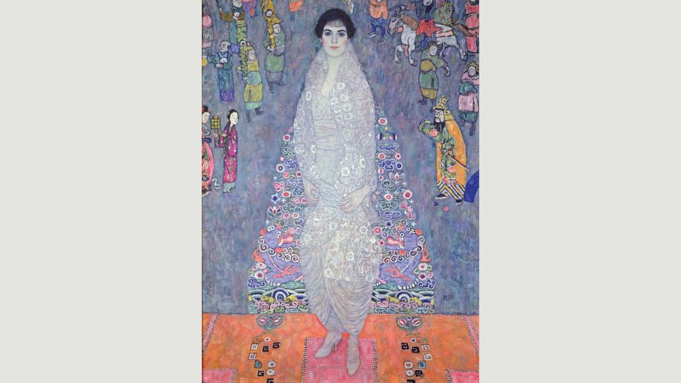 Klimt depicted many Viennese society women in his portraits, including Szeréna Lederer and her daughter Elisabeth (pictured) (Credit: Gustav Klimt/Neue Galerie New York)