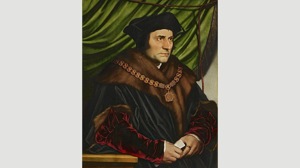 The word 'utopia' was coined by Sir Thomas More, depicted here by Hans Holbein the Younger, in his 1517 book
