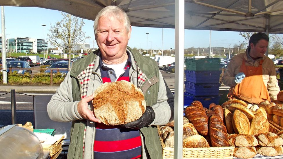 Declan Ryan sells bread at Arbutus Bread and a stall in Cork's English Market (Credit: Good Food Ireland)