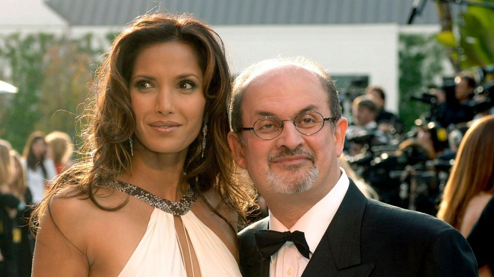 Though Salman Rushdie is better known for his writing than his looks, he married model Padma Lakshmi in 2004 (Credit: Alamy)