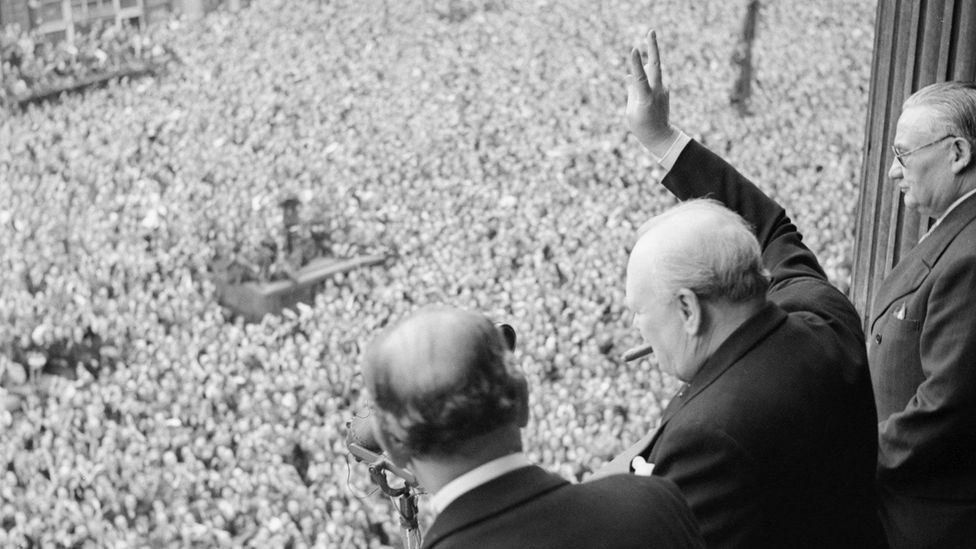 Sir Winston Churchill was renowned for his courage and dominance during the second world war (Credit: Getty Images).