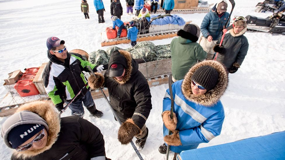Players from Pond Inlet must travel at least 240km to compete against other teams (Credit: Eric Guth)