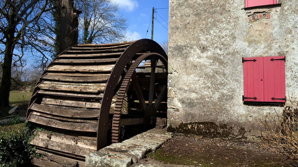 Flour mills used to be powered by water wheels (Credit: George Munday/Alamy)