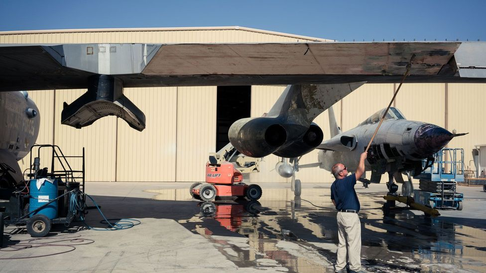 A B-52 is being restored at the Pima Air and Space Museum (Credit: Chris Hinkle)
