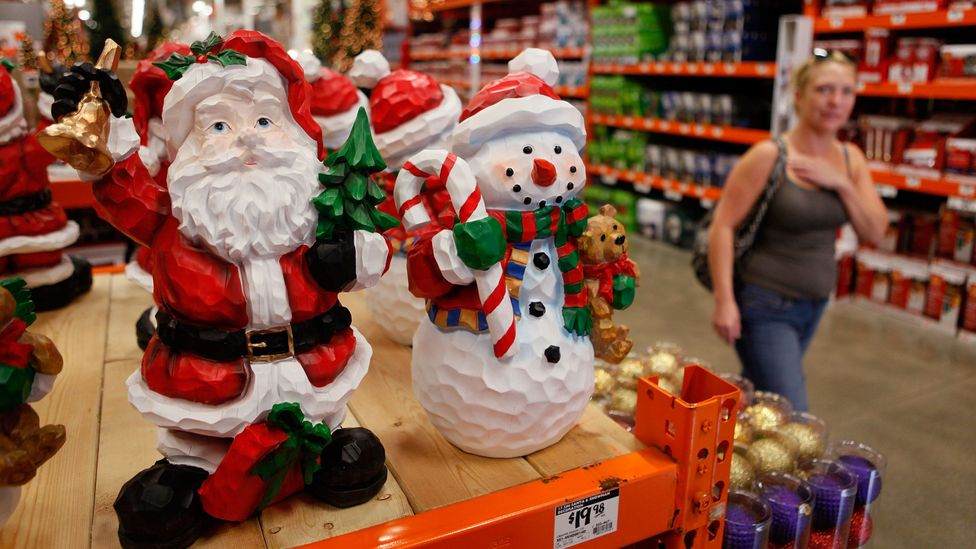 Christmas displays are being put up earlier and earlier each year (Credit: Getty Images)