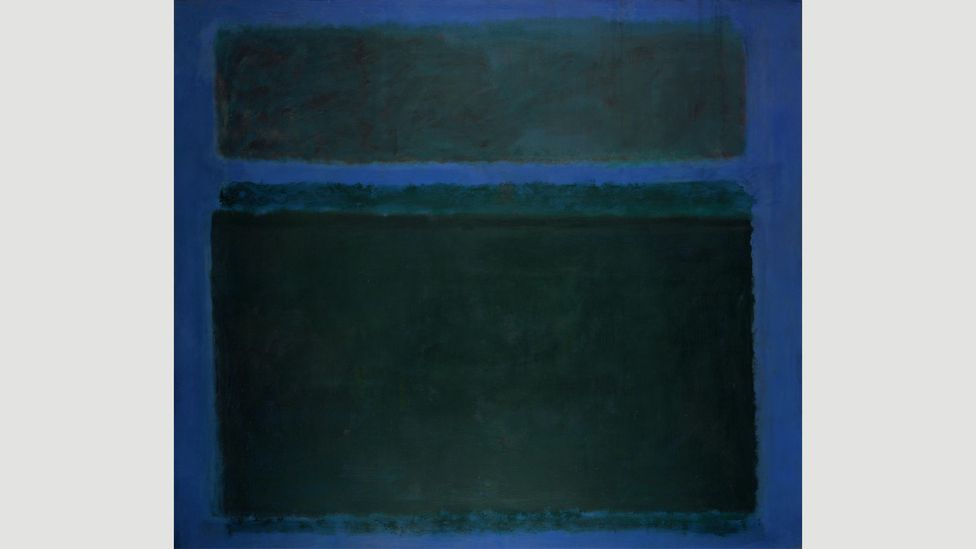 Rothko's No 15 Dark Greens on Blue with Green Band dates from 1957 (Credit: Kate Rothko Prizel and Christopher Rothko ARS, NY and DACS, London)