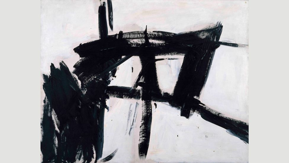 Franz Kline's works are more rigorously composed and less spontaneous than those of other Abstract Expressionists (Credit: Museum of Contemporary Art Chicago)