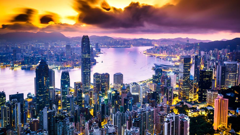 Hong Kong, with a population of 7.3 million people crammed into 1,104 square kilometres, is smaller than Los Angeles (Credit: Getty Images)