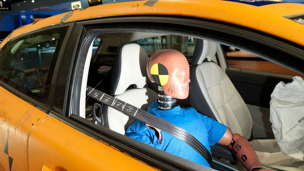 Though seatbelts do save lives, when they were first introduced in the UK there was a sharp increase in accidents (Credit: Alamy)