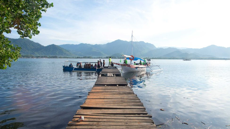 Alimuddin's famous boat is called the Perahu Pustaka, or Book Boat (Credit: Theodora Sutcliffe)