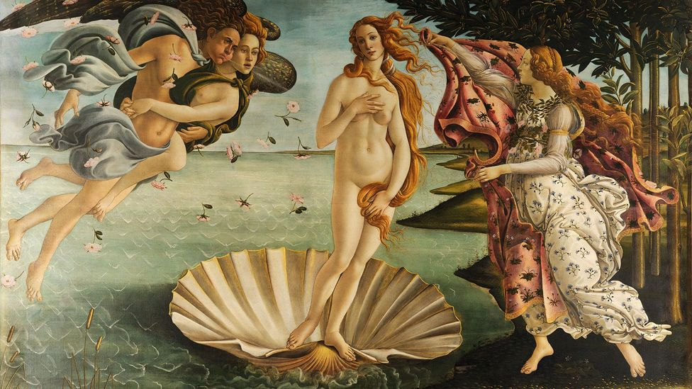Aphrodite, who Botticelli depicted in his painting The Birth of Venus, was probably a combination of various fertility goddesses from around the Mediterranean (Credit: Wikipedia)