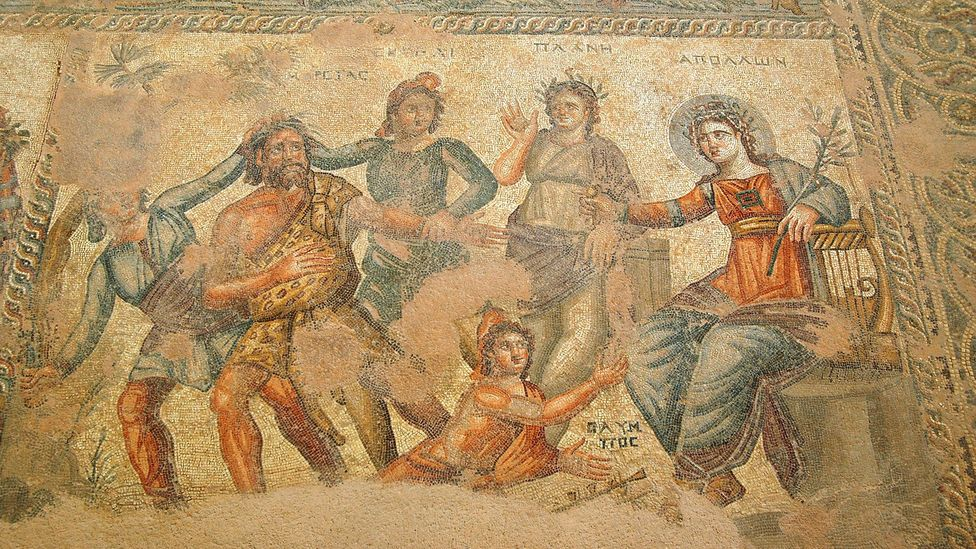 Mosaic floor, House of Aion at Paphos