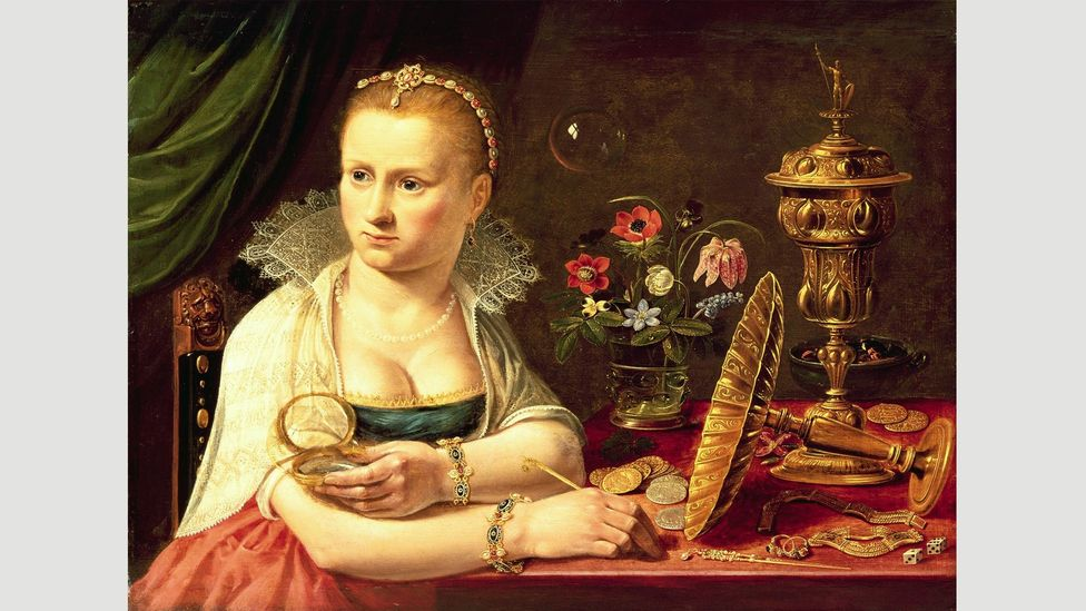 The subject of this Vanitas from around 1610 is thought to be Peeters herself, making it a self-portrait (Credit: Prado)