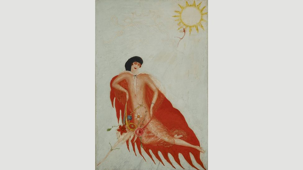 Florine Stettheimer was largely unknown outside the circle of Modernist artists in which she moved. Her Portrait of Myself dates from 1923 (Credit: Columbia University)