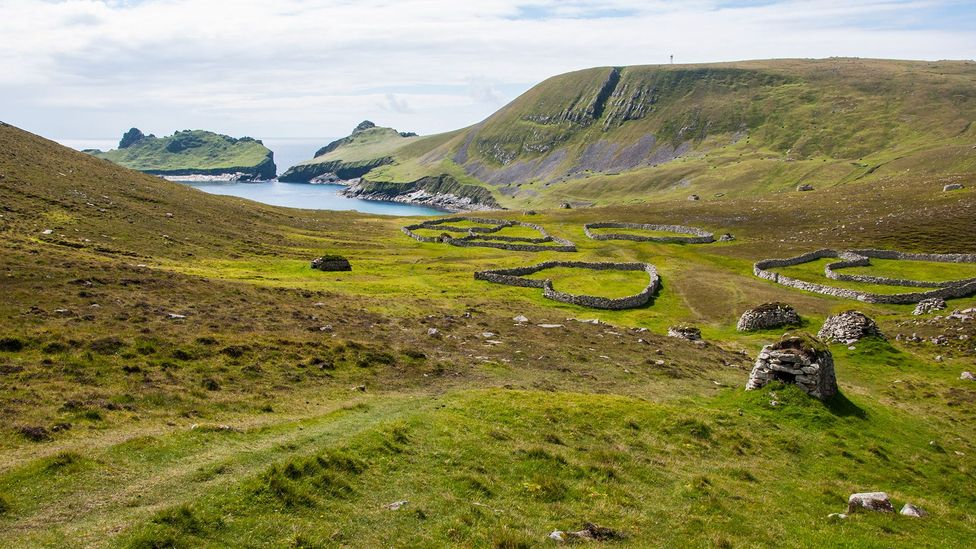 Once, farm animals would have inhabited these stone enclosures (Credit: Amanda Ruggeri)