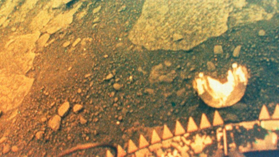 In the 1970s, Soviet landers sent back pictures after landing on Venus's inhospitable surface (Credit: Science Photo Library)