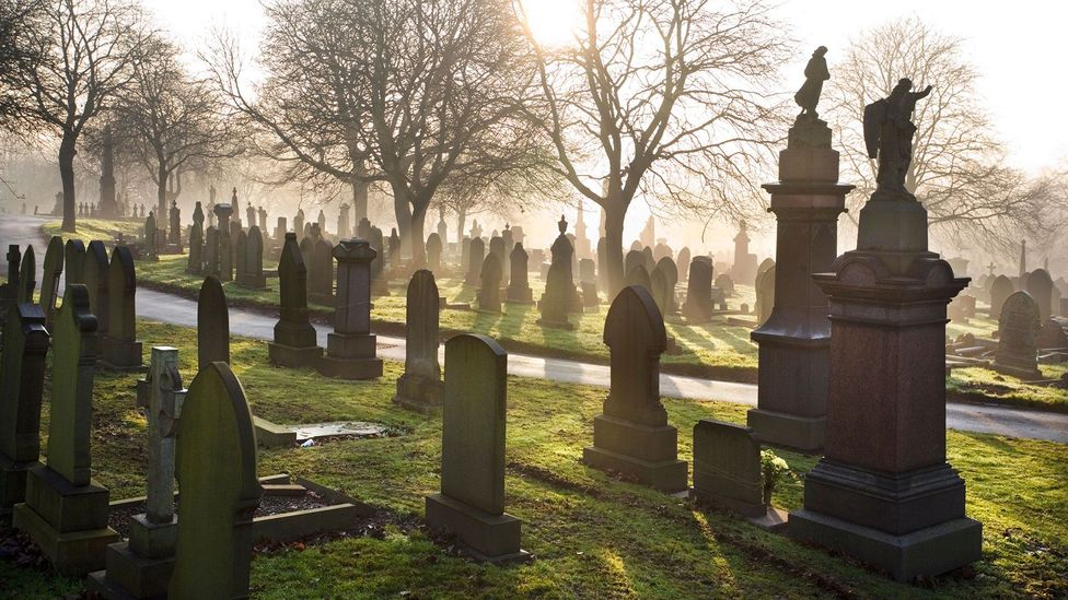 Dressed as a ghost, Cornell lurked in graveyards, moaning softly (Credit: Alamy)