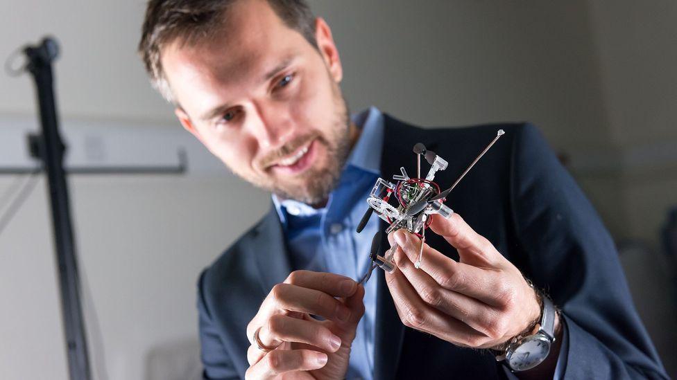 Mirko Kovac believes walking and flying drones could help repair reactors (Credit: Aerial Robotics Lab, Imperial College London)