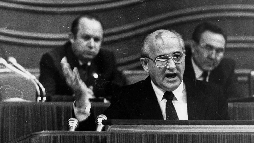 In the end, it was Mikhail Gorbachev's program of reforms that addressed some of the USSR's deepest problems - not the Soviet internet (Credit: Getty Images)