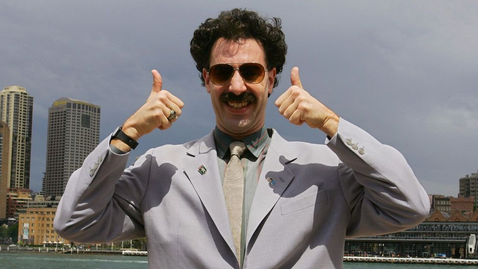 The film has created awkward moments – the winner of a shooting competition in Kuwait was 'honoured' when Borat's version of the Kazakh national anthem played (Credit: Alamy)