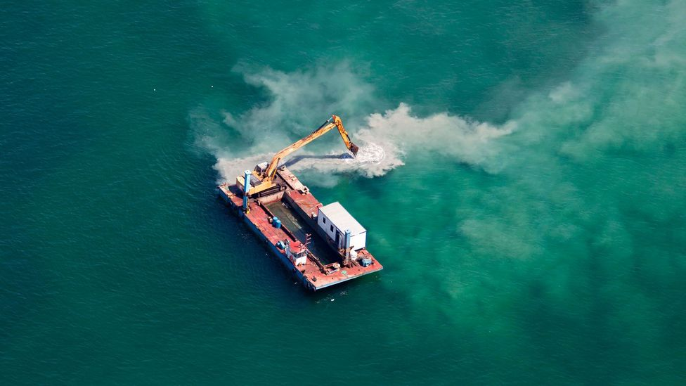 Building into the sea can cause havoc for ocean ecosystems (Credit: iStock)