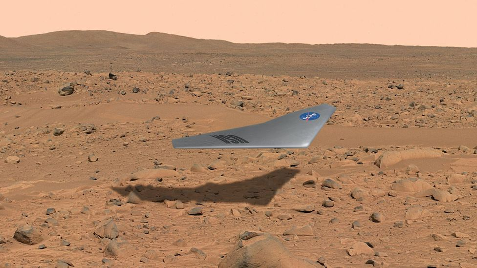 The flying wing would give scientists their first proof of the nature of the Martian atmosphere (Credit: Nasa)