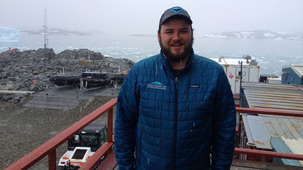 Logan Pallin is a classical-music obsessed American who works in Antarctica as a marine biologist (Credit: Alex Marshall)