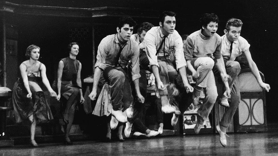 Other musicals have taken on serious themes, such as Leonard Bernstein's West Side Story, which explores racism between immigrant communities in New York (Credit: Getty Images)