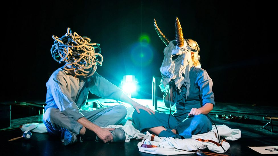 Bryony Kimmings' previous play Fake It 'Til You Make It was a two-hander performed with her partner Tim Grayburn that dealt with mental illness (Credit: Richard