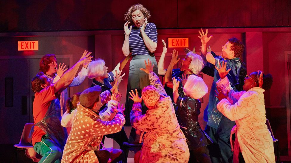 """The National Theatre's production of A Pacifist's Guide to the War on Cancer promises """"big anthems, shiny costumes, blood, tears and real cancer patients"""" (Credit: Mark Douet)"""