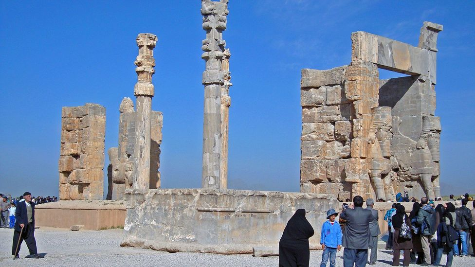 The ruins of the Gate of All Nations in Persepolis highlight the Persian legacy in Iran (Credit: Julihana Valle)