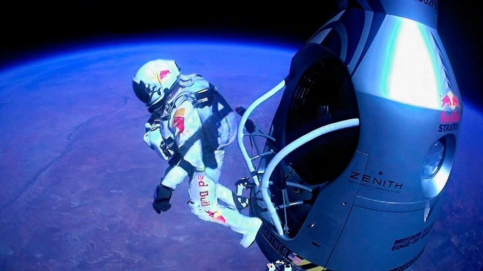 Felix Baumgartner carried out his record-setting skydive after floating to the leap-point in a high-altitude balloon (Credit: Science Photo Library)