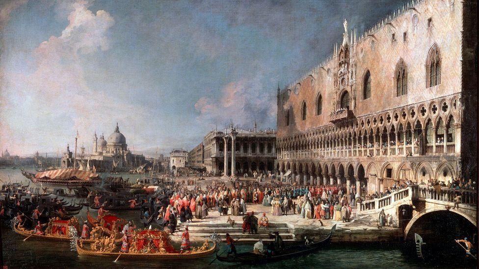 Returning to Venice from Padua as a young man, Casanova's course was set when he won patronage from a Venetian nobleman (Credit: Getty Images)