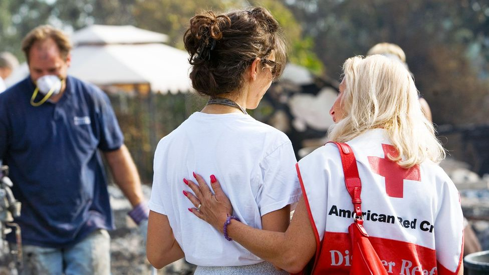 Giving in the US often involves non-profits, volunteering and charitable acts by the public (Credit: Andrea Booher)