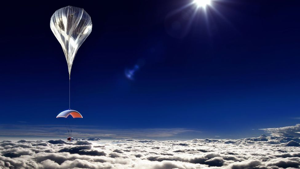 The capsule will take six paying passengers as high as 20 miles (32 kilometres) (Credit: World View)
