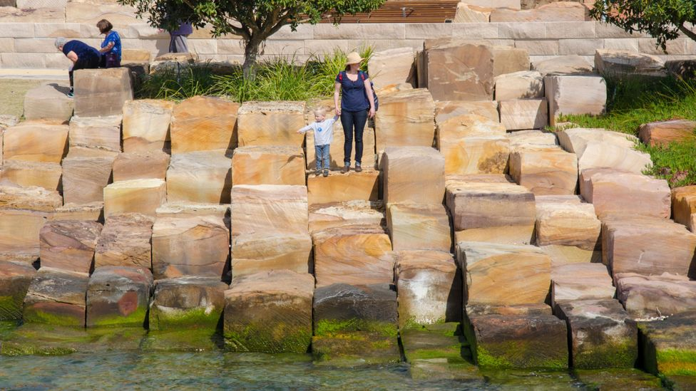 The sandstone of Barangaroo - a short distance from BBC Future's World-Changing Ideas Summit venue - is an example of smart seawall design (Credit: Alamy)